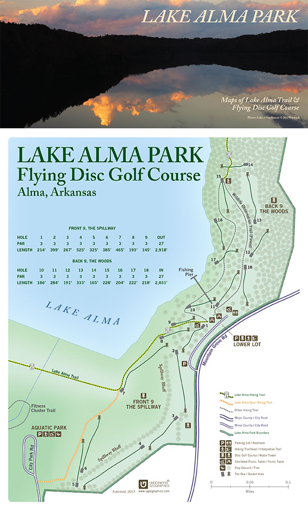 Lake Alma Park Map (Disc Golf Course)